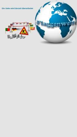 Vorschau der mobilen Webseite www.flaggenwelt.de, Flaggenwelt