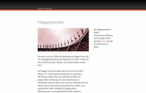 Vorschau von www.martin-oehm.de, Martins Flaggenparade