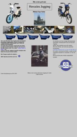 Vorschau der mobilen Webseite www.hercules-jogging.de, Hercules Jogging