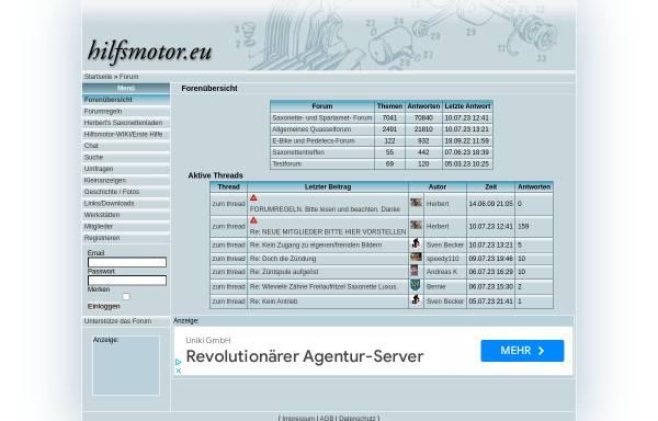 Vorschau von www.hilfsmotor.eu, hilfsmotor.eu