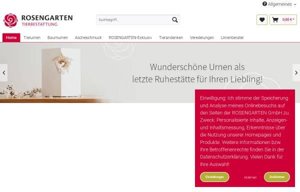 Vorschau von www.rosengarten-versand.de, Kleintierkrematorium im Rosengarten GmbH