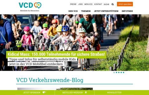 Vorschau von www.vcd.org, VCD Verkehrsclub Deutschland e. V.
