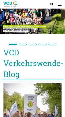 Vorschau der mobilen Webseite www.vcd.org, VCD Verkehrsclub Deutschland e. V.