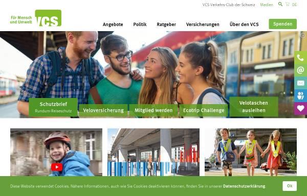 Vorschau von www.vcs-ate.ch, Verkehrs-Club der Schweiz