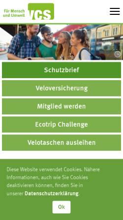 Vorschau der mobilen Webseite www.vcs-ate.ch, Verkehrs-Club der Schweiz