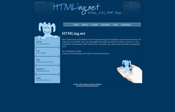 Vorschau von www.htmling.net, Die Geschichte eines HTMLings