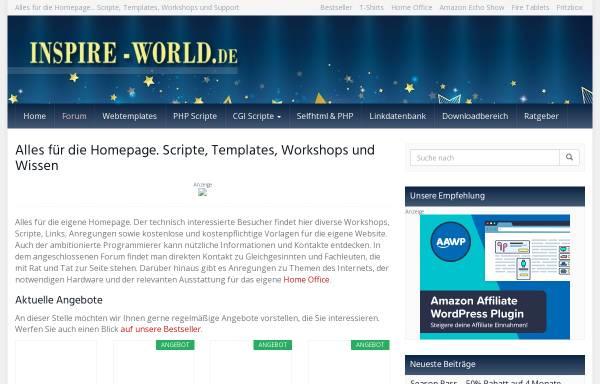 Vorschau von www.inspire-world.de, Inspire World