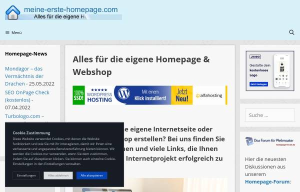 Vorschau von www.meine-erste-homepage.com, Meine erste Homepage