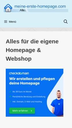 Vorschau der mobilen Webseite www.meine-erste-homepage.com, Meine erste Homepage