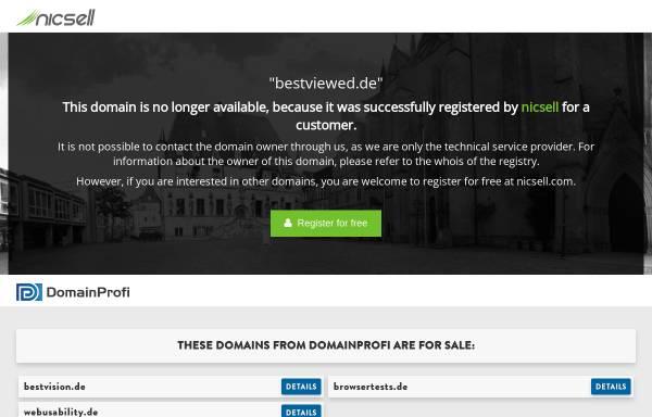 Vorschau von www.bestviewed.de, Optimiert für ... Usability