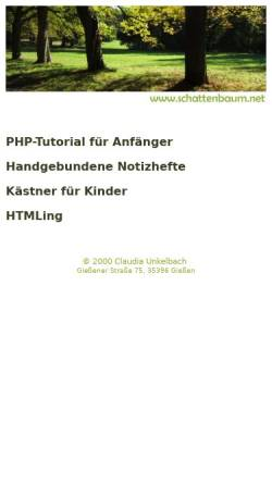Vorschau der mobilen Webseite www.schattenbaum.net, Schattenbaum