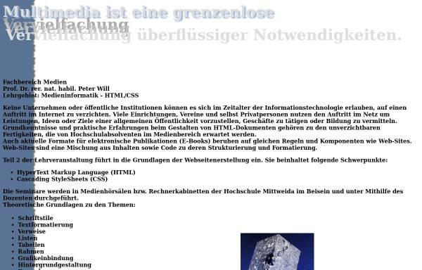 Vorschau von www.staff.hs-mittweida.de, Seminar Erstellung von HTML-Webseiten