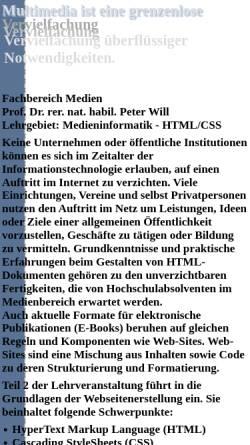 Vorschau der mobilen Webseite www.staff.hs-mittweida.de, Seminar Erstellung von HTML-Webseiten