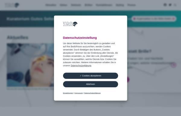 Vorschau von www.sehen.de, Kuratorium Gutes Sehen e.V.