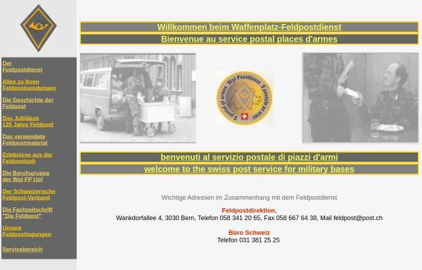Vorschau von www.gebrueder-duerst.ch, Waffenplatz-Feldpostdienst (Schweizer Feldpost)