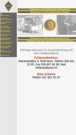 Vorschau der mobilen Webseite www.gebrueder-duerst.ch, Waffenplatz-Feldpostdienst (Schweizer Feldpost)