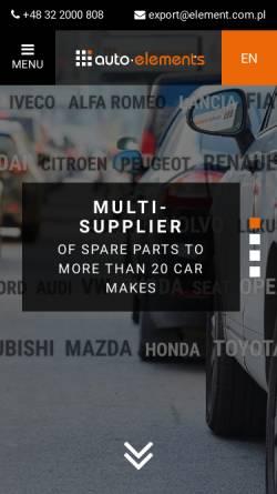 Vorschau der mobilen Webseite www.auto-elements.pl, Auto-Elements