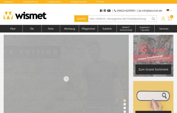 Vorschau von www.filterhandel-wismet.de, Filterhandel Wismet e.K.