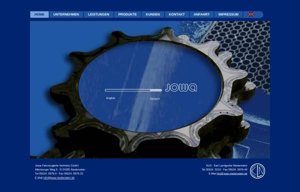 Vorschau von www.jowa-niedenstein.de, Jowa Fahrzeugteile Vertriebs GmbH