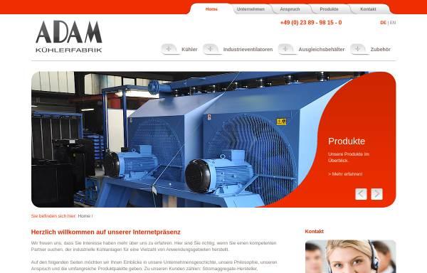 Vorschau von www.adam-kuehler.de, Martin Adam GmbH