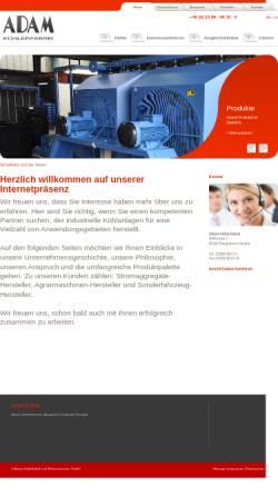 Vorschau der mobilen Webseite www.adam-kuehler.de, Martin Adam GmbH