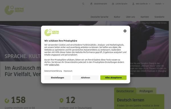 Vorschau von www.goethe.de, Goethe-Institut e. V.