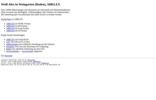 Vorschau von www.abklex.de, Abklex