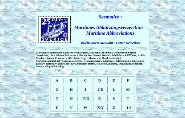 Vorschau von www.seemotive.de, Maritimes Abkürzungsverzeichnis