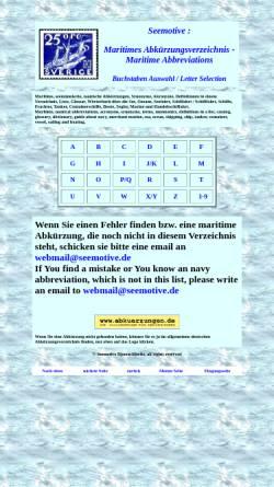 Vorschau der mobilen Webseite www.seemotive.de, Maritimes Abkürzungsverzeichnis