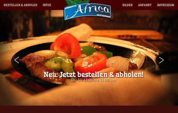 Vorschau von www.restaurantafrika.de, Ambiente Afrika Restaurant