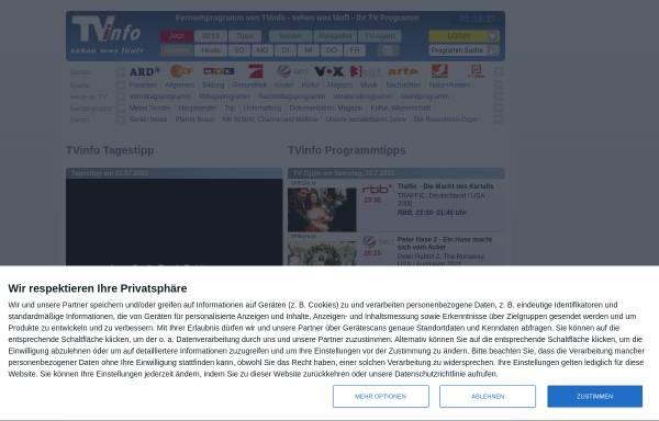 Vorschau von www.tvinfo.de, TVinfo