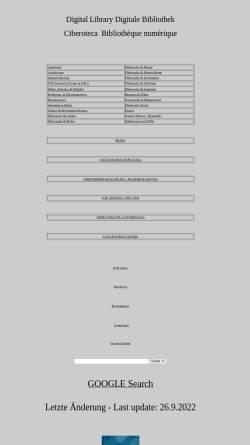 Vorschau der mobilen Webseite www.capurro.de, Digitale KM Bibliothek Prof. Rafael Capurro