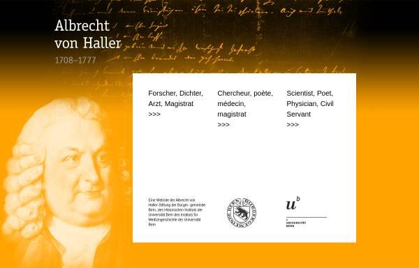 Vorschau von www.haller.unibe.ch, Albrecht von Haller (1708-1777)