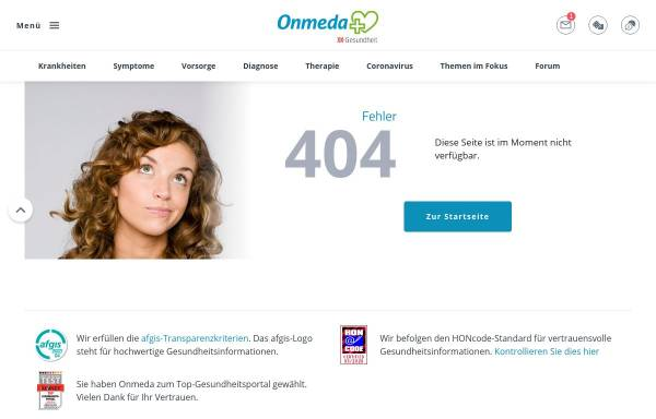 Vorschau von www.onmeda.de, Persönlichkeiten der Medizin