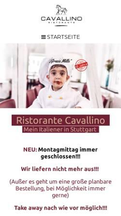 Vorschau der mobilen Webseite www.cavallino-stuttgart.de, Ristorante Cavallino