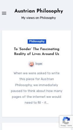 Vorschau der mobilen Webseite www.austrian-philosophy.at, Fdoep