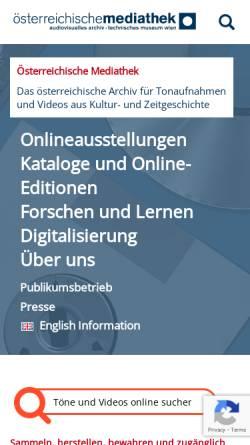 Vorschau der mobilen Webseite www.mediathek.at, Österreichische Mediathek