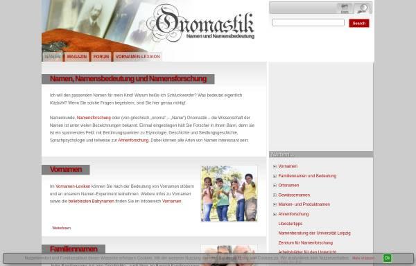 Vorschau von www.onomastik.com, Onomastik.com