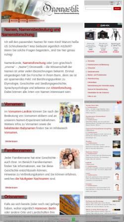 Vorschau der mobilen Webseite www.onomastik.com, Onomastik.com