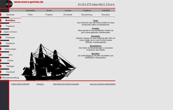 Vorschau von www.marco-gericke.de, Die grosse Welt der kleinen Schiffe