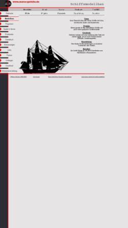 Vorschau der mobilen Webseite www.marco-gericke.de, Die grosse Welt der kleinen Schiffe