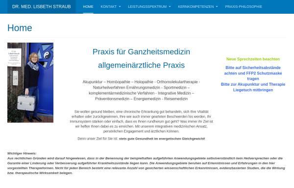 Vorschau von drstraub.de, Dr. Lisbeth Straub und Dr. Thomas Straub