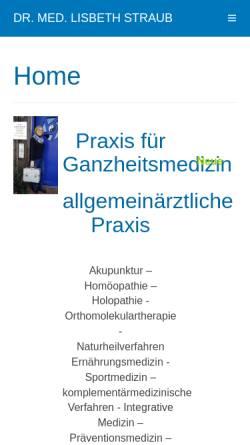 Vorschau der mobilen Webseite drstraub.de, Dr. Lisbeth Straub und Dr. Thomas Straub