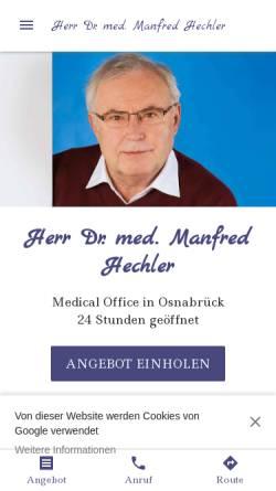 Vorschau der mobilen Webseite herr-dr-med-manfred-hechler.business.site, Dr. med. Manfred K. Hechler