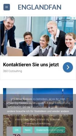 Vorschau der mobilen Webseite englandfan.de, Englandfan.de