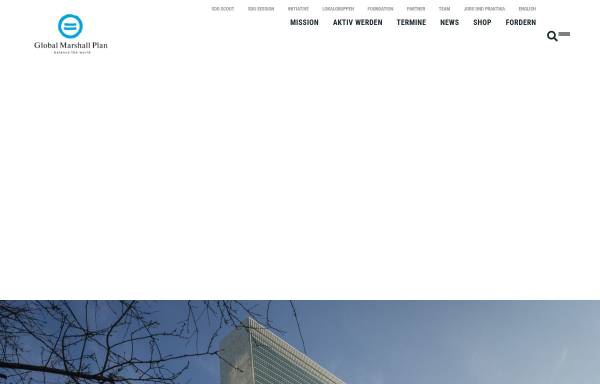 Vorschau von www.globalmarshallplan.org, Global Marshall Plan