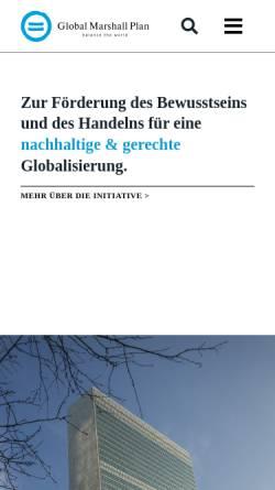 Vorschau der mobilen Webseite www.globalmarshallplan.org, Global Marshall Plan