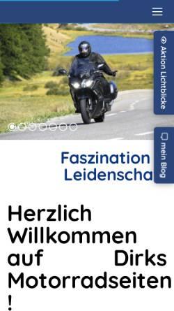 Vorschau der mobilen Webseite www.dirks-motorradseiten.de, FJR 1300