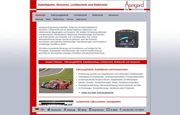 Vorschau von www.aamgard.de, Aamgard Motorsport Service