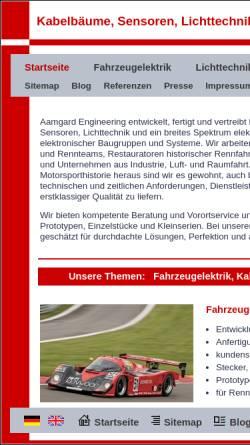 Vorschau der mobilen Webseite www.aamgard.de, Aamgard Motorsport Service